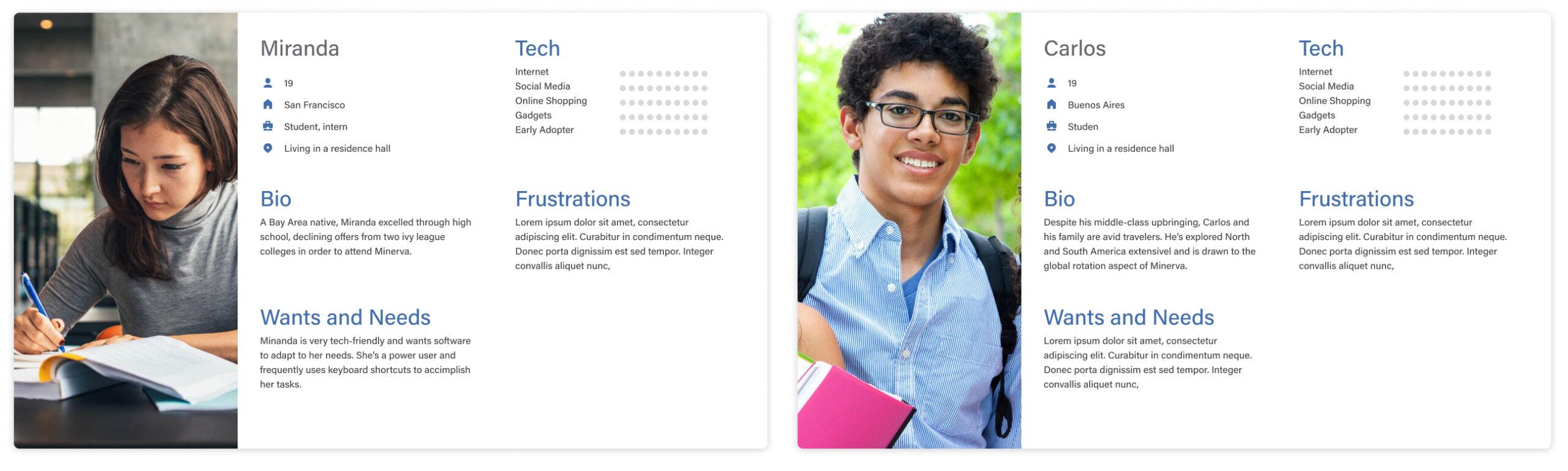 Personas-Students